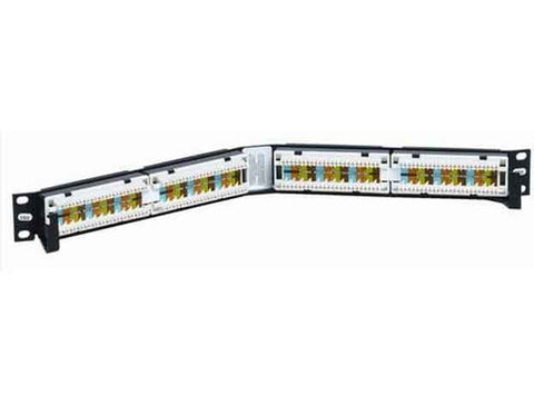 Uniprise Category 5e 24 Port Angled Patch Panel, 1 U