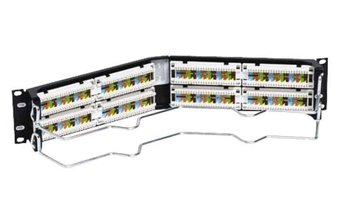 Uniprise Category 5e 48 Port Angled Patch Panel, 2 U