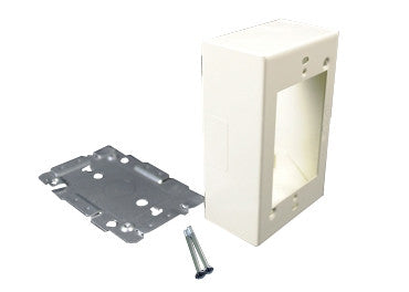 Steel surface raceway & recpt box 2000 Ivory