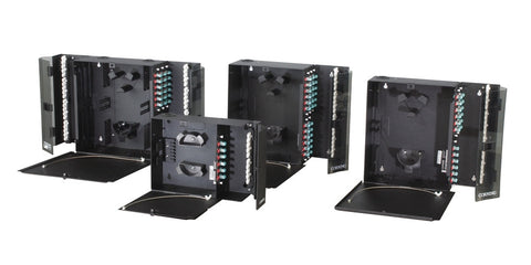 12 Fiber Wallmount Enclosure Loaded With ST Adapters