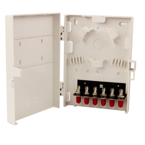 Molex Compact Wall Mount 6 Port ST Loaded with Multimode Adapters