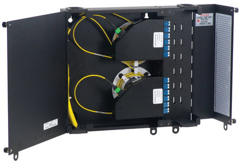 "AFL Wall Mount Enclosure, Accommodates up to (2) LGX118 adapter panels,12.0""H x 14.0""W x 2.5""D"