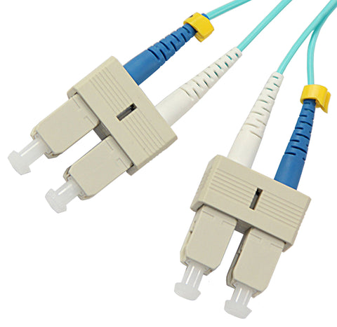 1m SC-SC duplex OM4 10Gig 50/125µm/1.6mm multimode patch cable