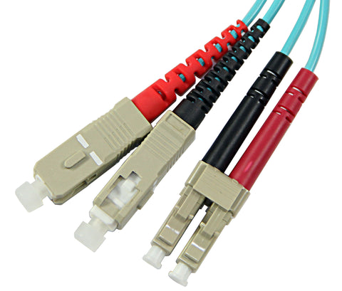 1m LC-SC Duplex 50/125µm/1.6mm 10 Gig OM3 Multimode Patch Cable