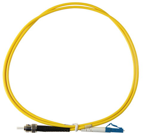 1m ST-LC Simplex 8.3/125µm single mode patch cord, UPC polish
