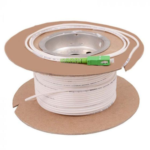 MDU White Drop Fiber Patch Cord SC/APC-SC/APC 92 meters (300 feet)
