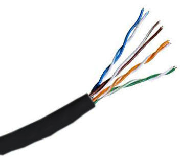 Hitachi CAT5e UTP Riser Rated Bulk Cable (CMR) 100MHz - 4 Pair, 1000 Feet, Black Color