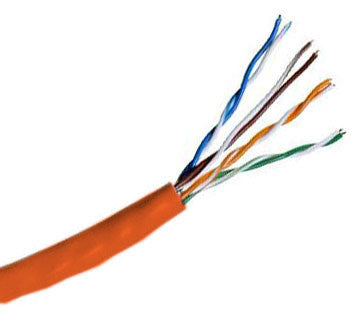 Remee  Cable CAT5e UTP Plenum Rated Bulk Cable (CMP) 350MHz - 4 Pair, 1000 Feet, Orange Color