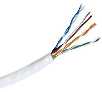Hitachi CAT5e UTP Plenum Rated Bulk Cable (CMP) 100MHz - 4 Pair, 1000 Feet, White Color
