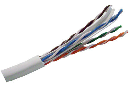 Molex CAT6 UTP Plenum Rated Bulk Cable (CMP) - 4 Pair, 1000 Feet, White Color
