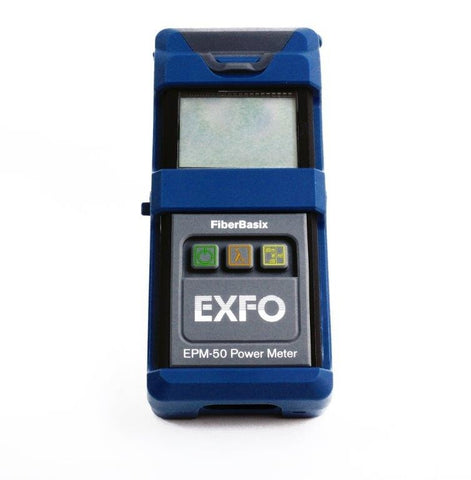 EXFO FiberBasix 50 Power Meter with InGaAs Detector, Rubber Boot FC Adapter