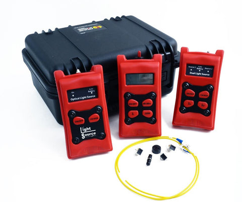 Test Kit with Hand Held Power Meter (0.01 dB Resolution), 1310nm, 1490nm, 1550nm Laser Light Source (FC Interface)