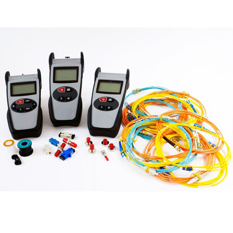Test Set Kit with Data Saving Power Meter & 850/1300nm & 1310/1550nm Light Sources