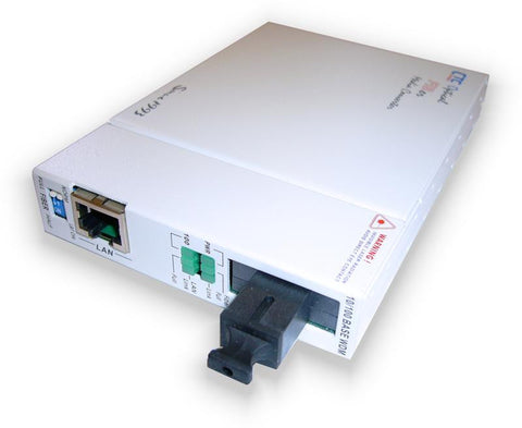 Fast Ethernet WDM BiDi single strand fiber media converter, SC 60Km B type