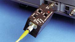 Fiber optic O/E converter with FC connector input, amplified 750MHz