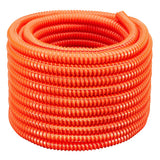 "250 Feet - 1"" Split Outside Plant Corrugated Fiber Innerduct- HDPE - Orange Color"