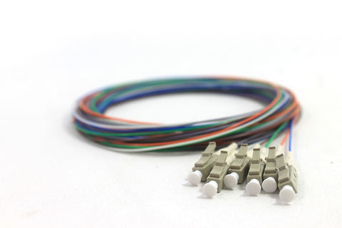 62.5/125/900µm multimode LC/PC Color Coded Pigtails, 3 Meters (6 pcs/pack)
