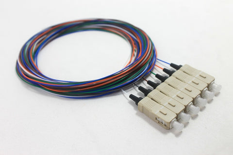 50/125/900µm multimode SC/PC Color Coded Pigtail, 3 Meters (6 pcs/pack)