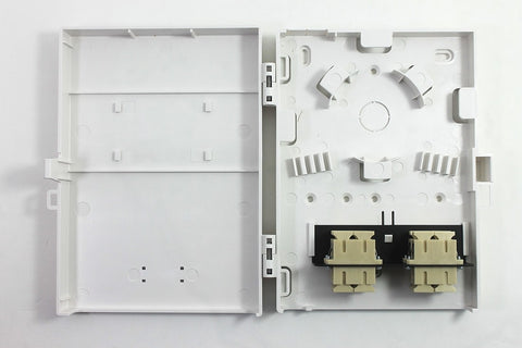 Molex Compact Wall Mount 8 Port Duplex SC Style Loaded with Multimode Adpaters