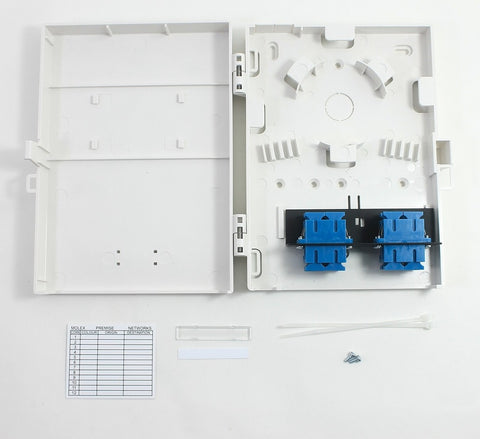 Molex Compact Wall Mount 8 Port Duplex SC Style Loaded with Single Mode Adpaters