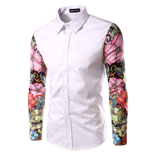 Shirt With Colored Sleeves