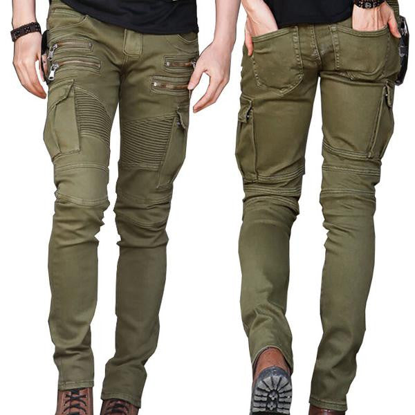 Green & Black Denim Skinny Jeans