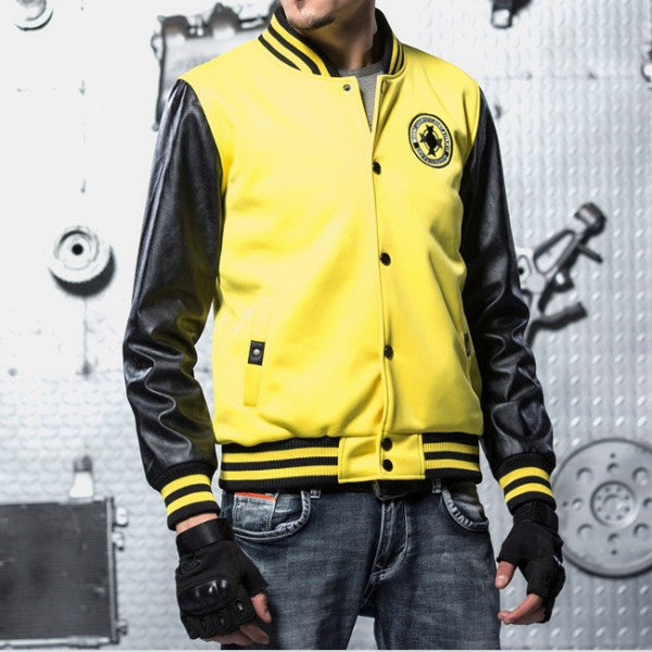 5 Colors Baseball Bomber Jacket Yellow