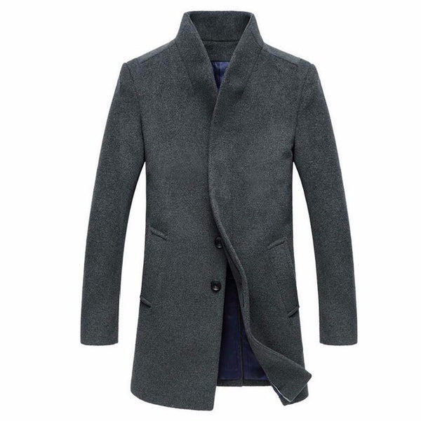 Winter Long Coat Woolen 4 Colors