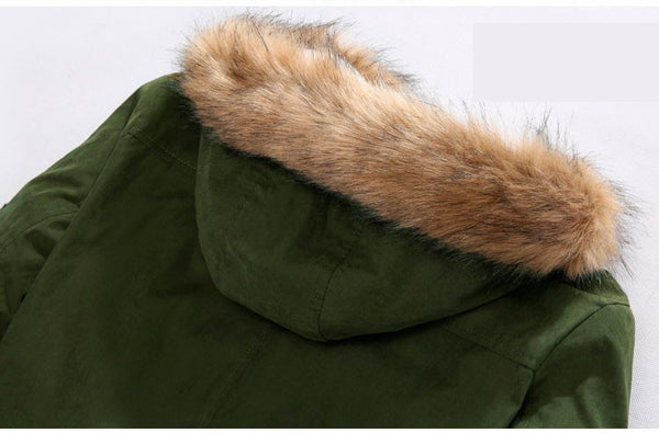 Jacket with Fur Hood