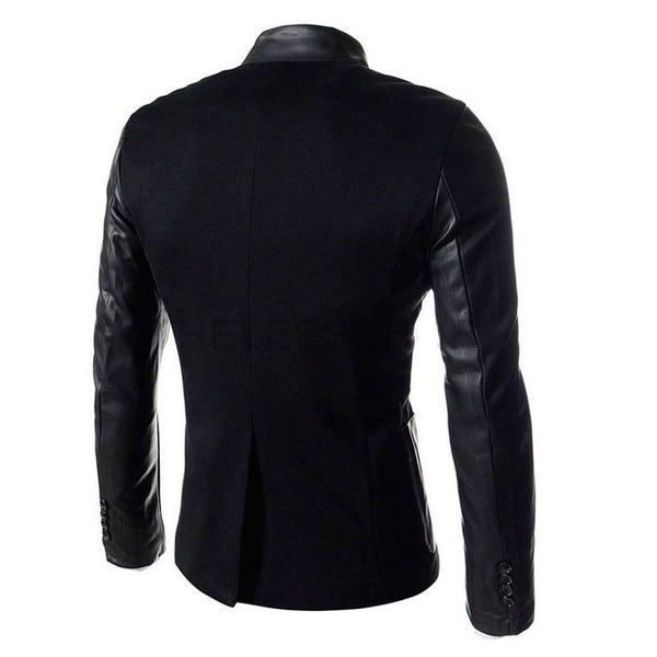 Korean Jacket Fitted Leather Collar