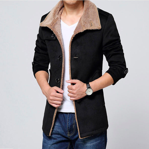 Long Wool Coat Jackets Black