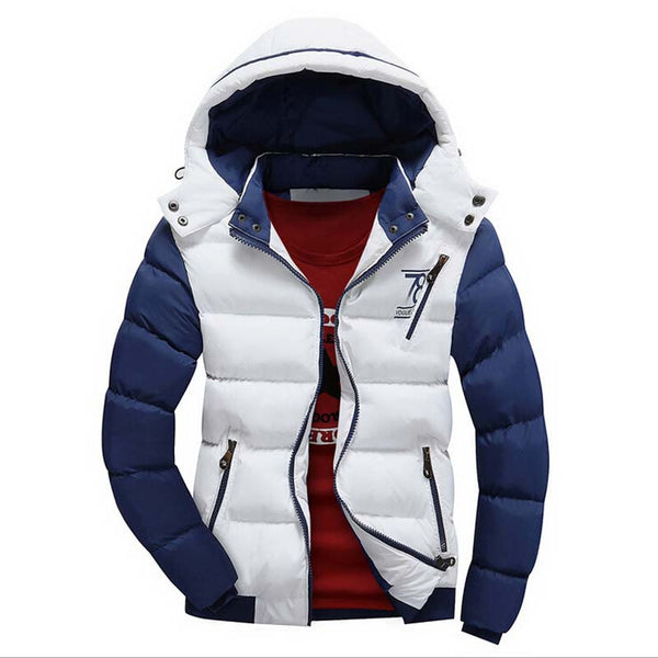Men Jacket Cotton Coat White