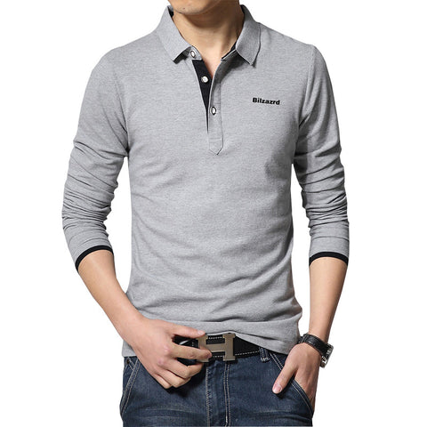 Casual Polo Shirt Grey