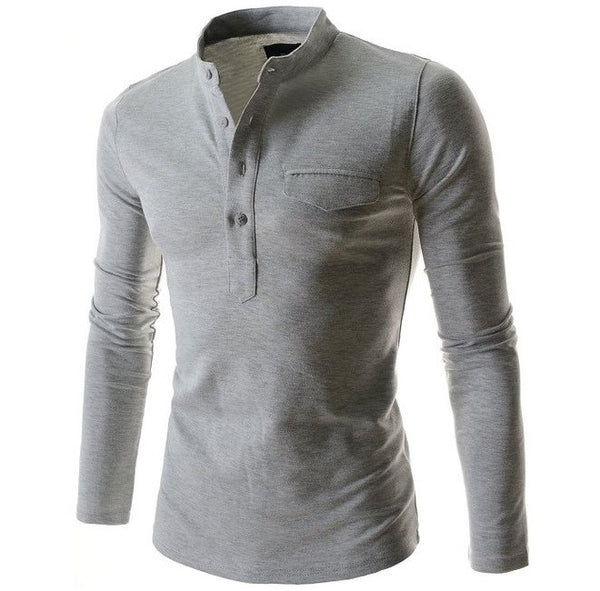 Long Sleeves Polo Shirt 6 Colors