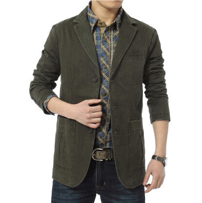 Casual Denim Cotton Blazer
