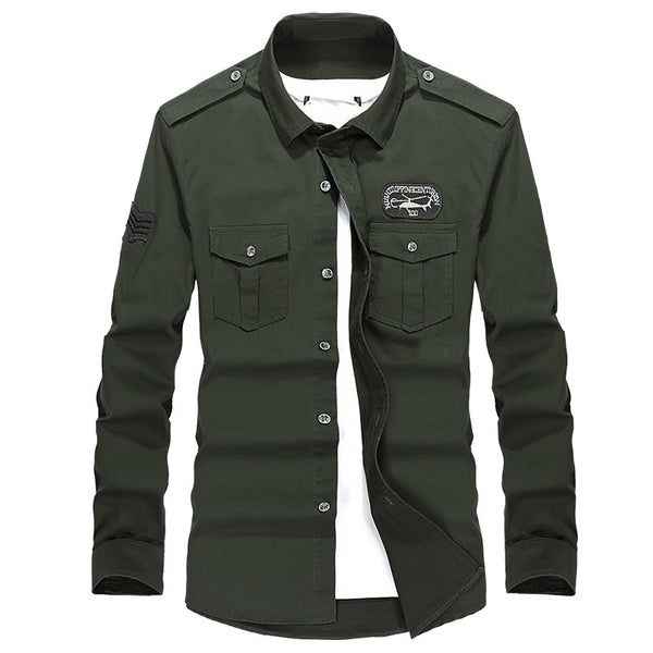 Men's Military Uniform Style Shirt