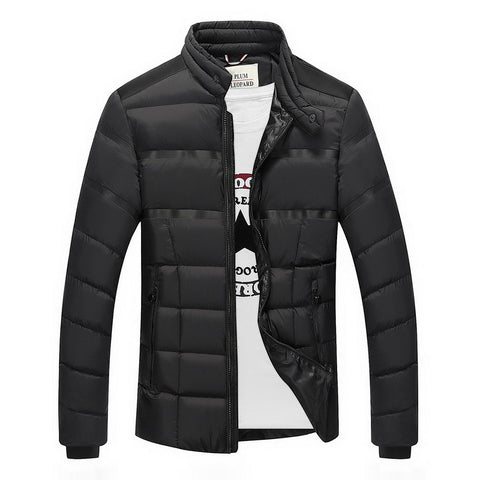 Men Down Parkas Jacket Black