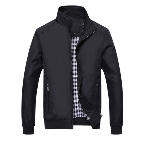 Casual Mens Bomber Jacket Black