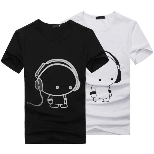 3D Anime Funny T-Shirts White