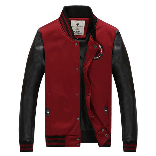 5 Colors Baseball Bomber Jacket Red