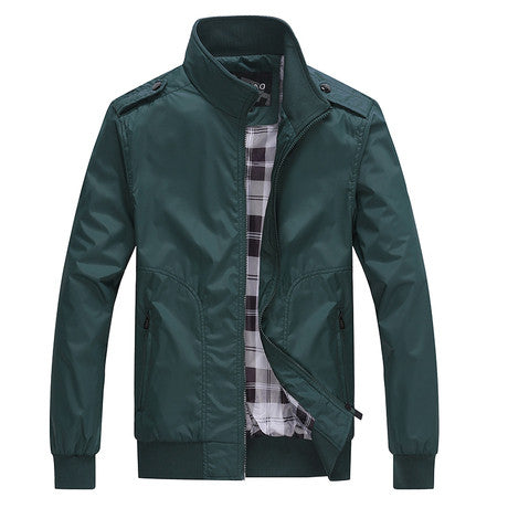 Simple British Style Jacket Green 3 Colors