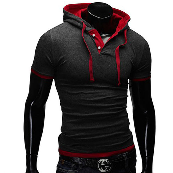 Hooded Polo Shirt 6 Color