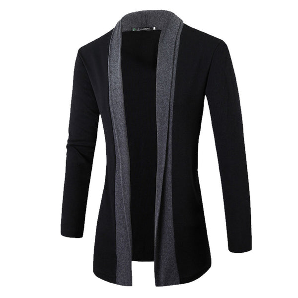 Elegant Splicing Long Sleeve Cardigan