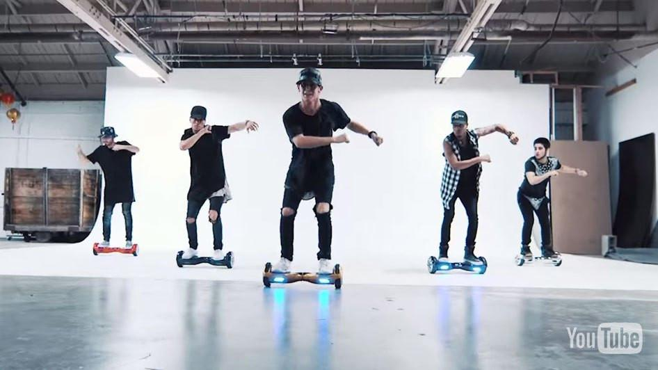 Hoverboard Dance Videos Gain in Popularity - What Do You Mean by Justin Bieber