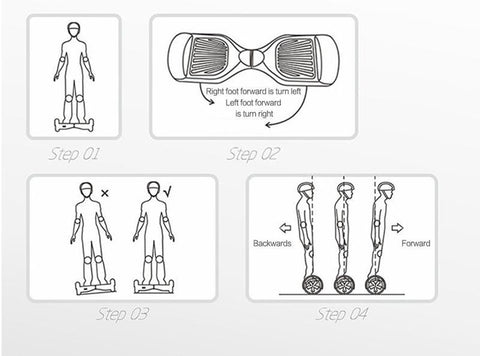 Learn to Ride a Hoverboard Directions