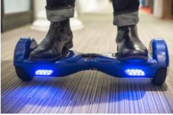 Blue Hoverboard in the Office
