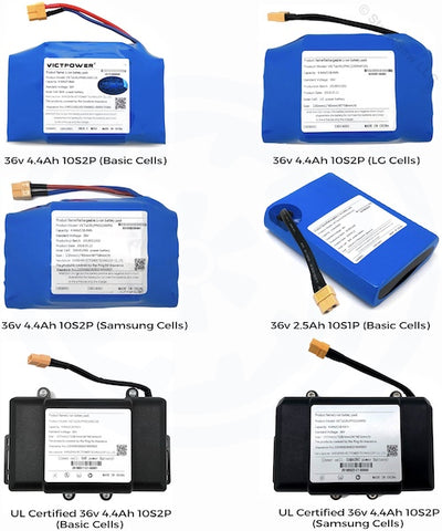 Hoverboard Battery Replacement Choose from UL2271, Samsung, LG, & Basic -  36V MSDS, Fully Certified Lithium-Ion
