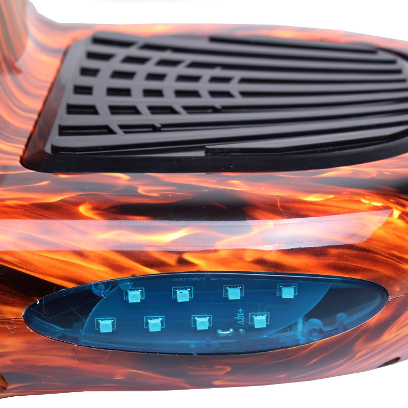 10 Inch Orange Flame Hoverboard LED Light