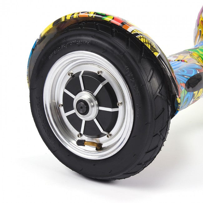 Krakken Yellow Hoverboard with Blue Pads Wheel