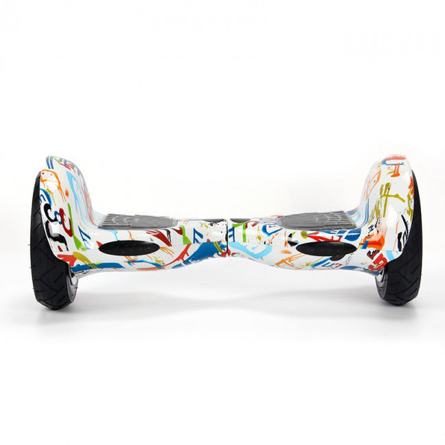 White Graffiti 10 Inch Hoverboard Front